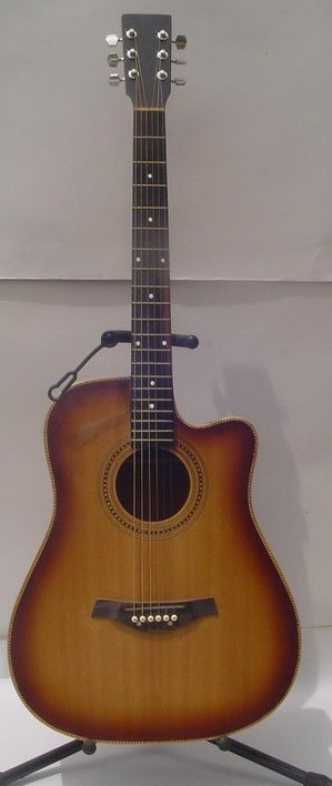 Standard Acoustic Guitar Cut away Mahggany Back n side Spruce Top Boyzen Finish