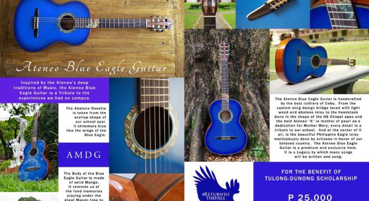 Ateneo Blue Eagle Guitar